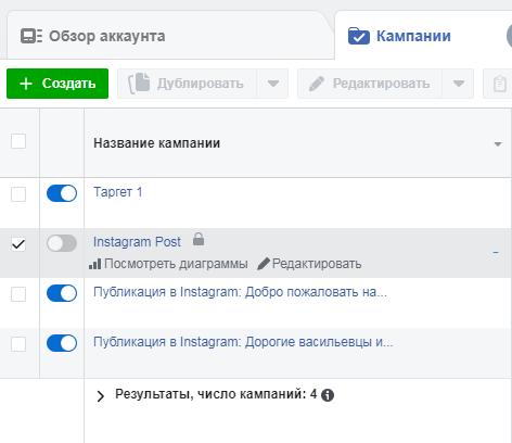Как приостановить рекламу в Facebook?